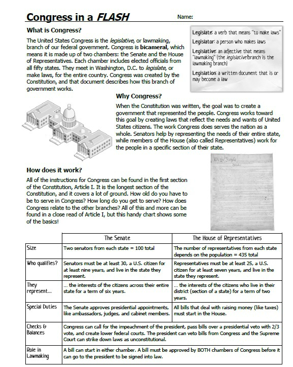 32 Congress In A Flash Worksheet Answers - Free Worksheet ...